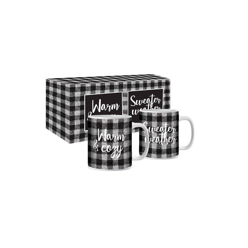 Warm And Cozy Sweater Weather Twin Mug Set Gourmet Du Village