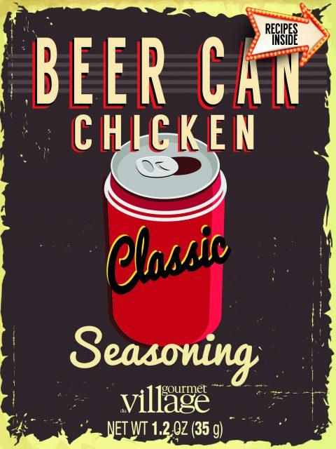 Beer Can Chicken Retro recipe box-01
